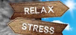 Stress - relax skilt - hjælper jeg ofte med - Mybodyandmind